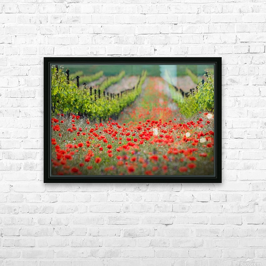 Red district HD Sublimation Metal print with Decorating Float Frame (BOX)