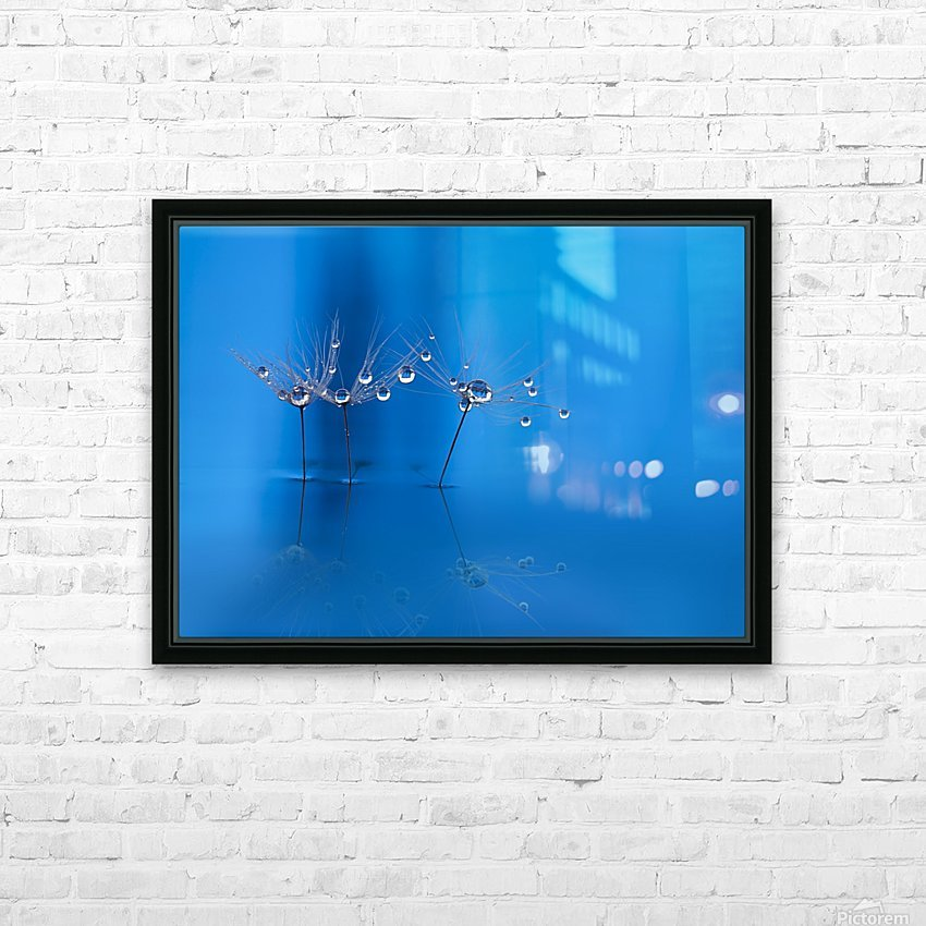Blue fun HD Sublimation Metal print with Decorating Float Frame (BOX)