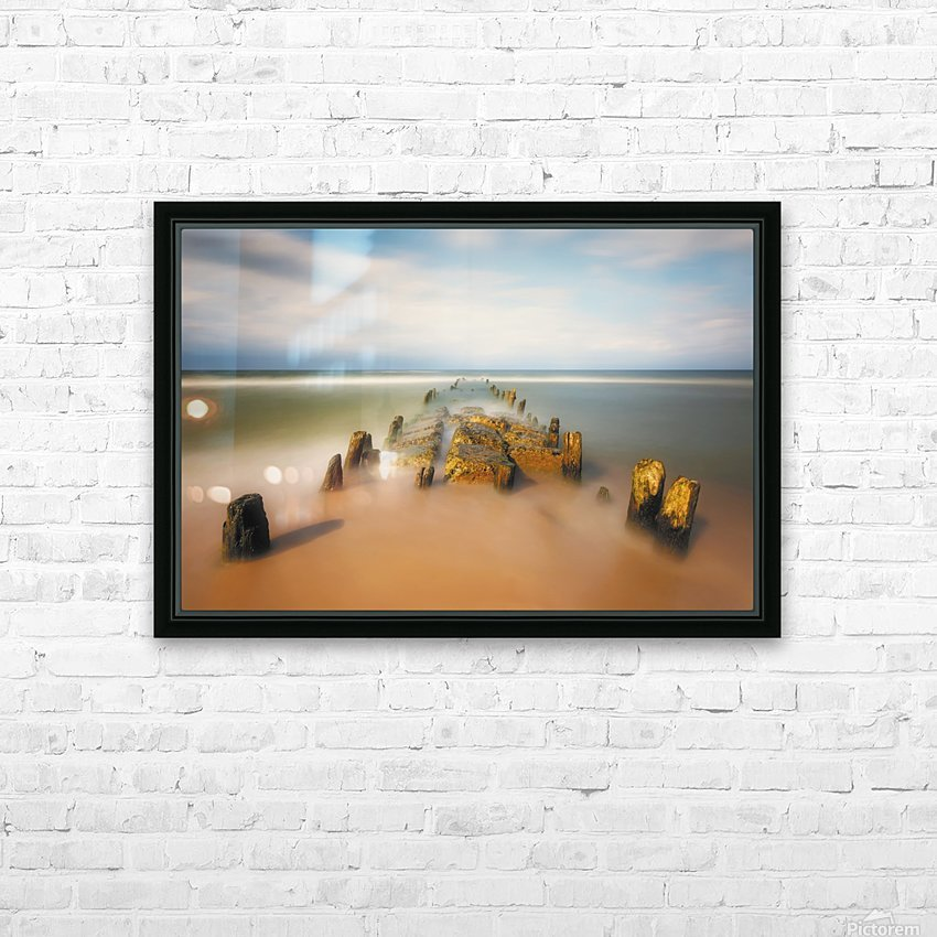 sea road HD Sublimation Metal print with Decorating Float Frame (BOX)