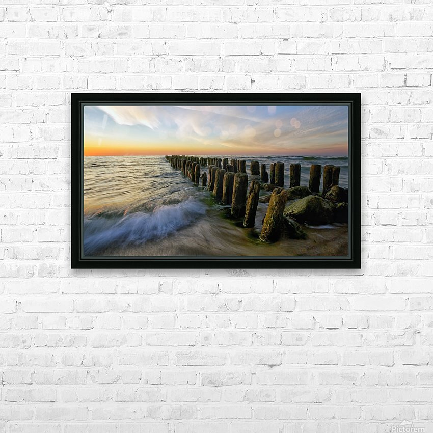 Lace sunset HD Sublimation Metal print with Decorating Float Frame (BOX)
