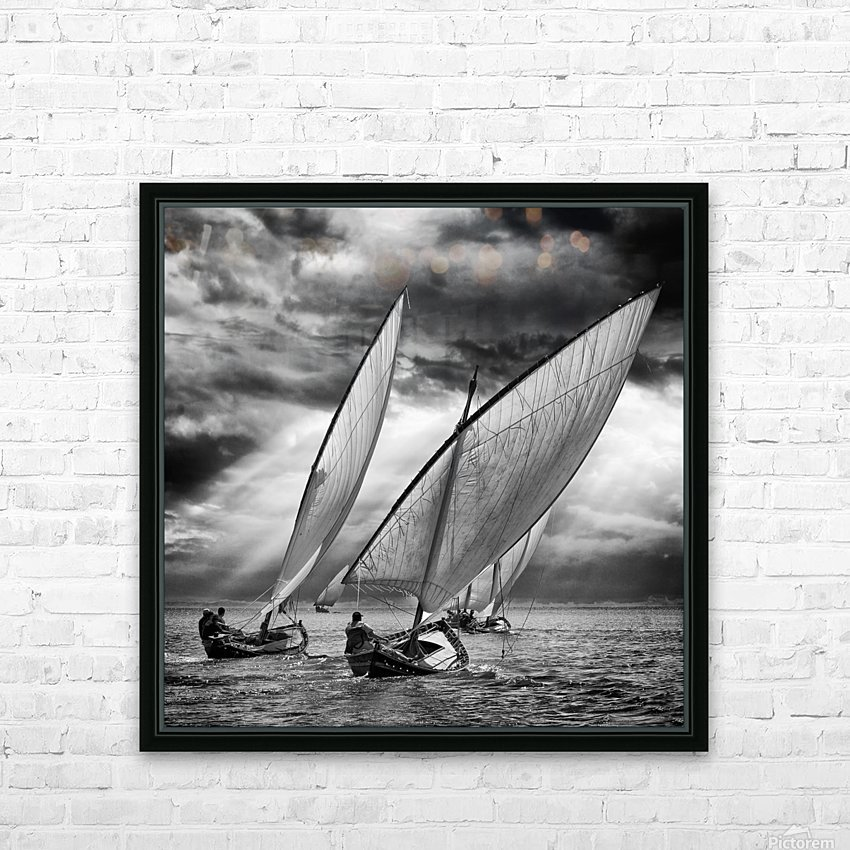Sailboats and Light HD Sublimation Metal print with Decorating Float Frame (BOX)