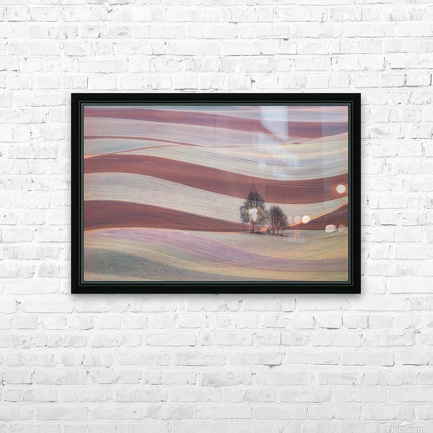 Waves HD Sublimation Metal print with Decorating Float Frame (BOX)