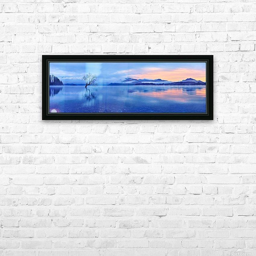 Lake Wanaka HD Sublimation Metal print with Decorating Float Frame (BOX)