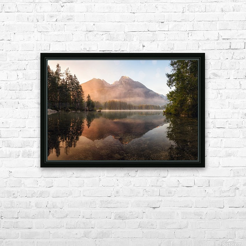 Glowing Mist HD Sublimation Metal print with Decorating Float Frame (BOX)