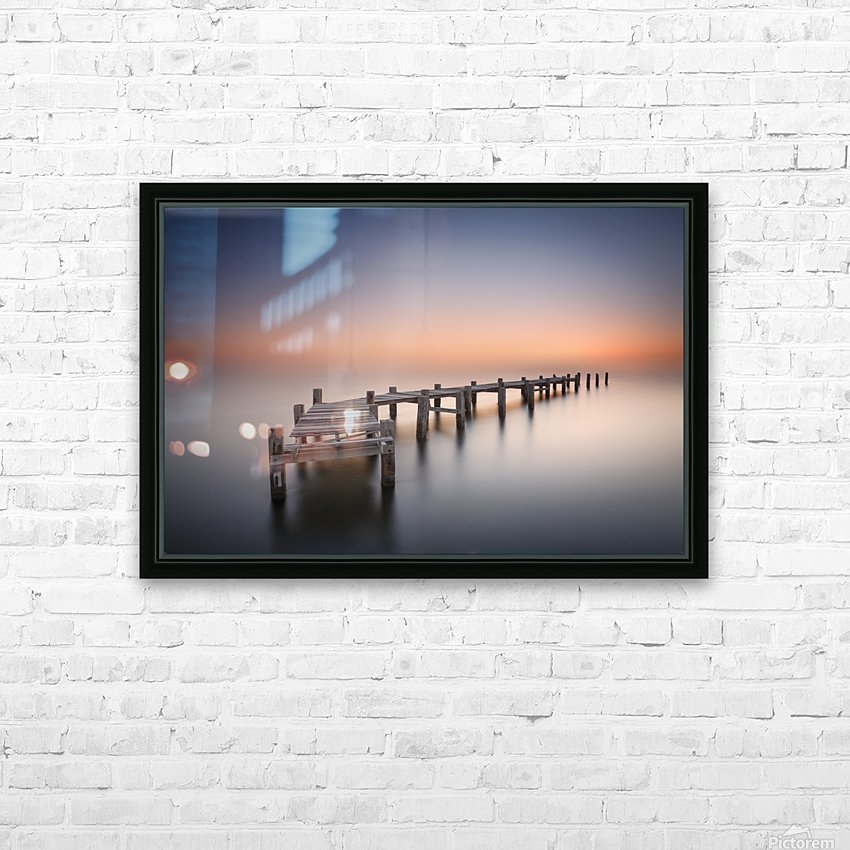 Old pier II HD Sublimation Metal print with Decorating Float Frame (BOX)