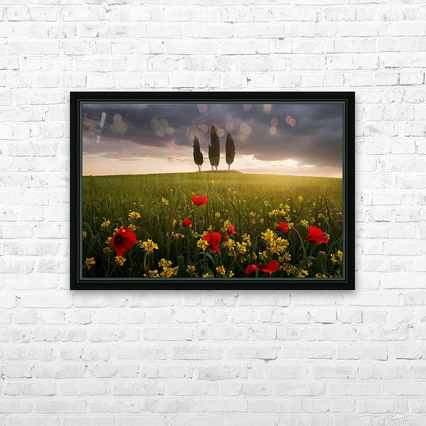 Blooming Tuscany HD Sublimation Metal print with Decorating Float Frame (BOX)