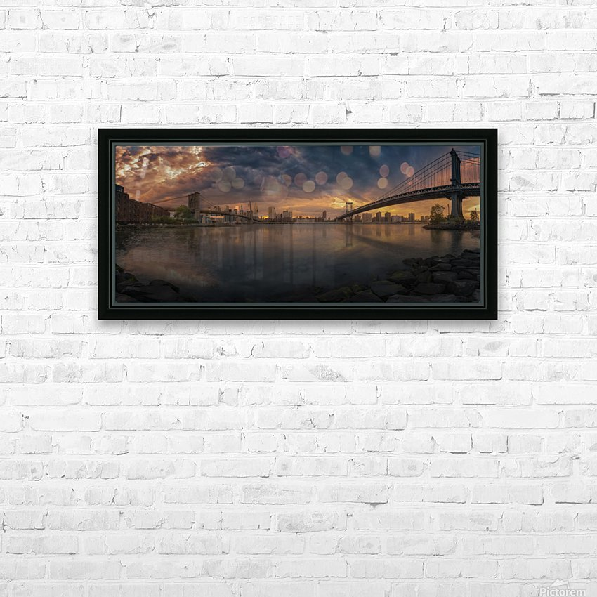 Between bridges HD Sublimation Metal print with Decorating Float Frame (BOX)