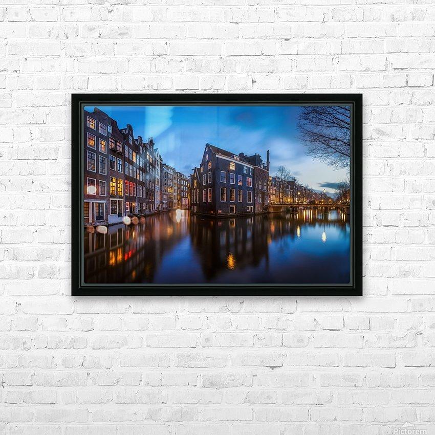 Blue Amsterdam HD sublimation métal imprimé avec décoration flotteur cadre (boîte)