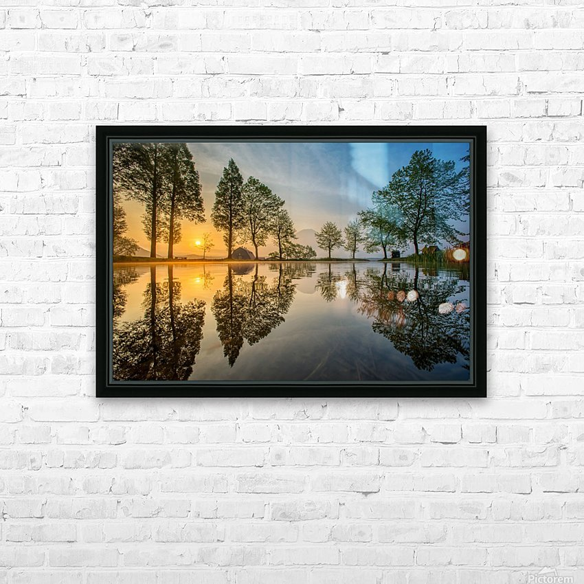 Mount Fuji reflected in Lake , Japan HD Sublimation Metal print with Decorating Float Frame (BOX)
