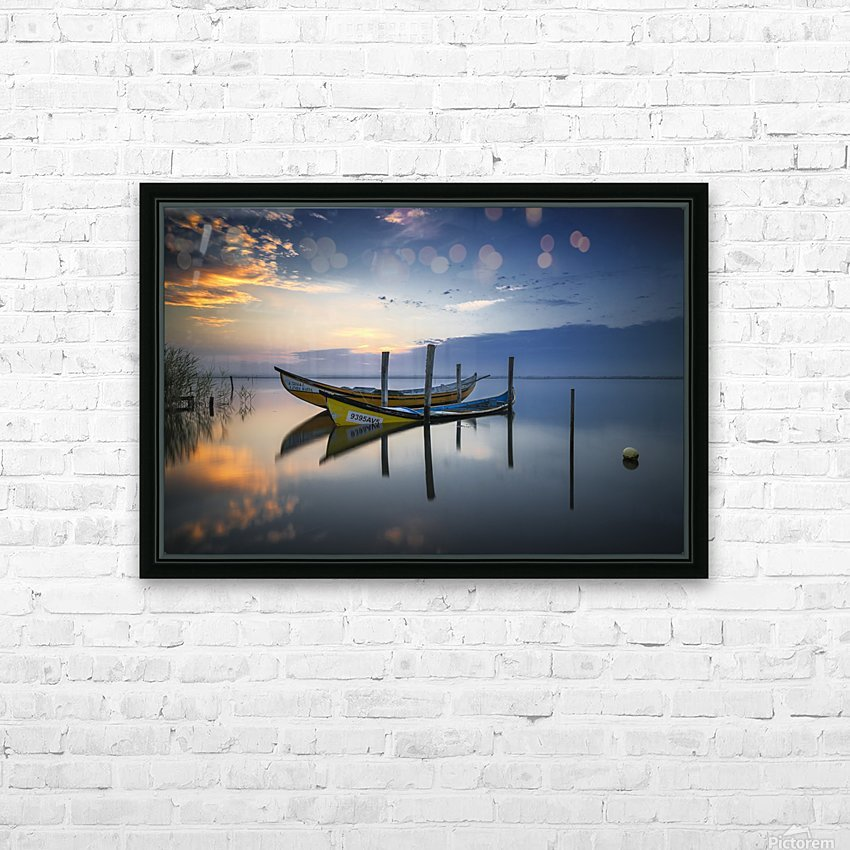 The boats HD Sublimation Metal print with Decorating Float Frame (BOX)