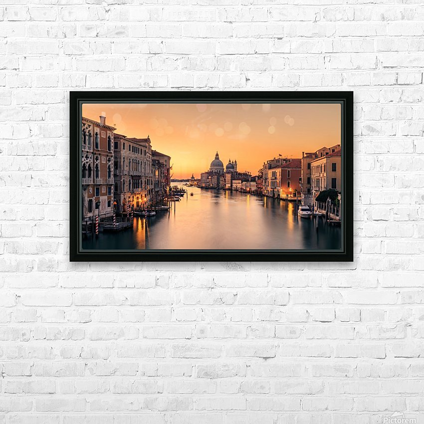 Dawn on Venice HD Sublimation Metal print with Decorating Float Frame (BOX)