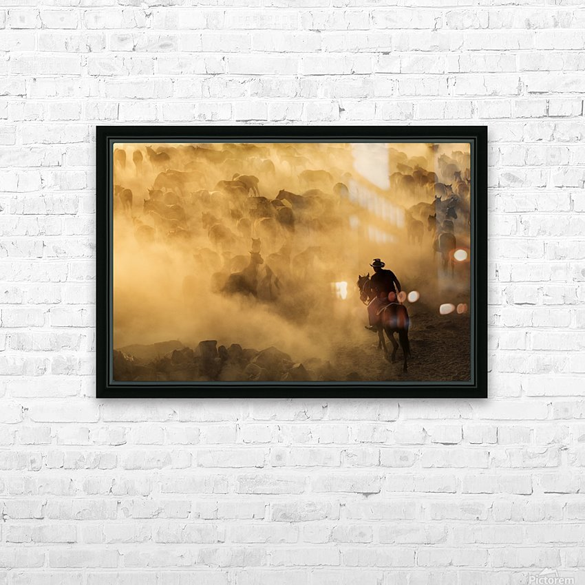 Cappadocia wild horses HD Sublimation Metal print with Decorating Float Frame (BOX)