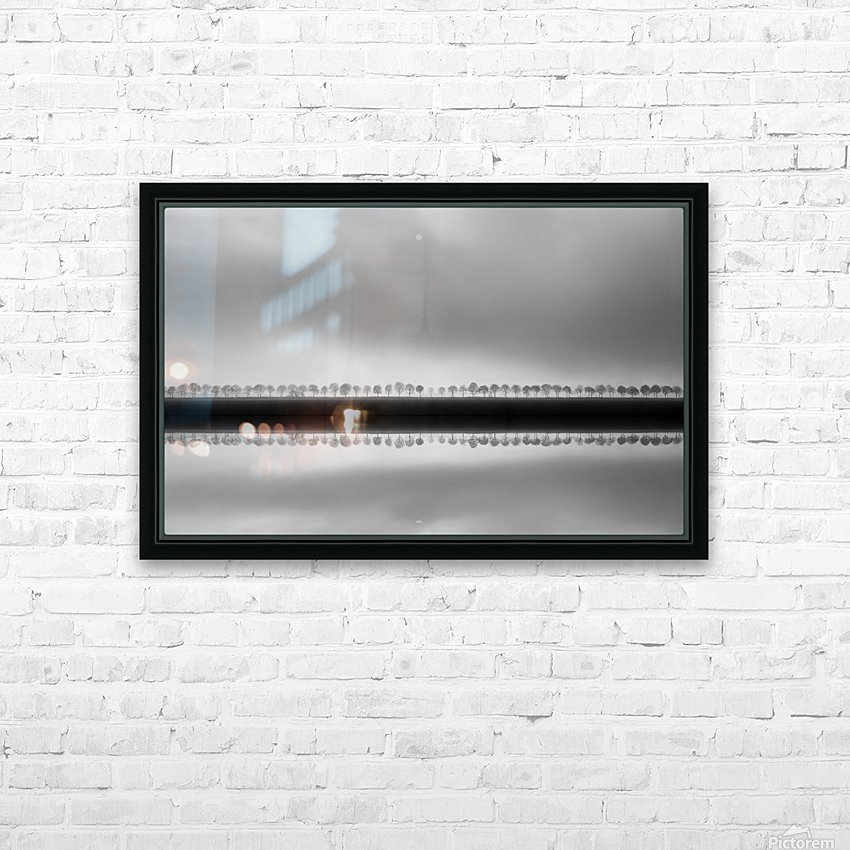 Polderlandscape in reflection HD Sublimation Metal print with Decorating Float Frame (BOX)
