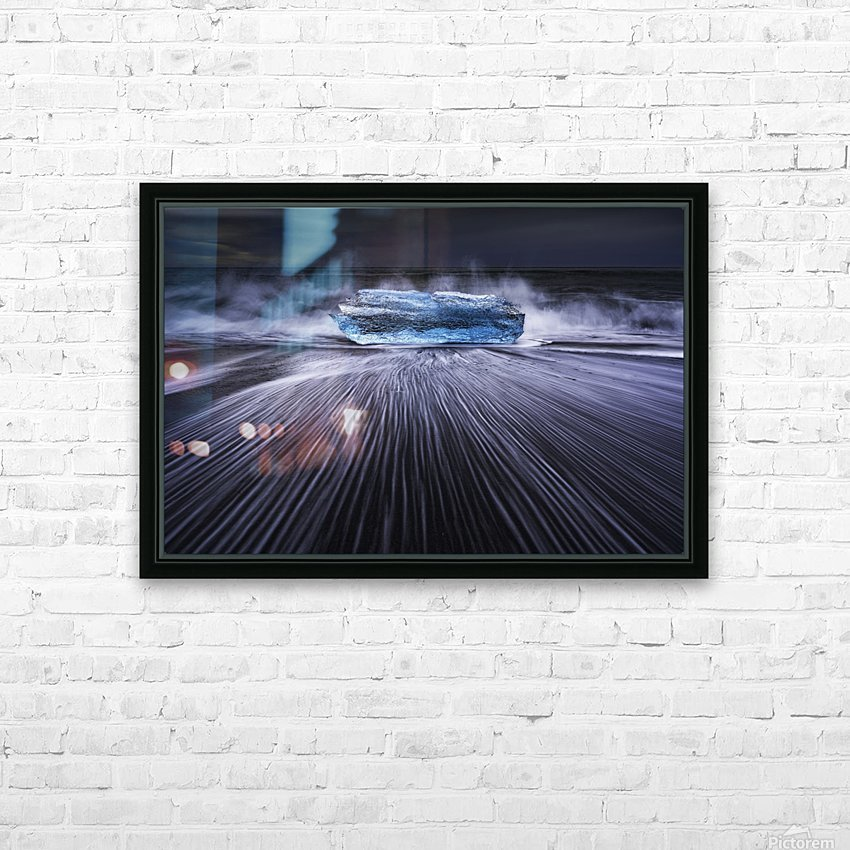 Blue Diamond HD Sublimation Metal print with Decorating Float Frame (BOX)