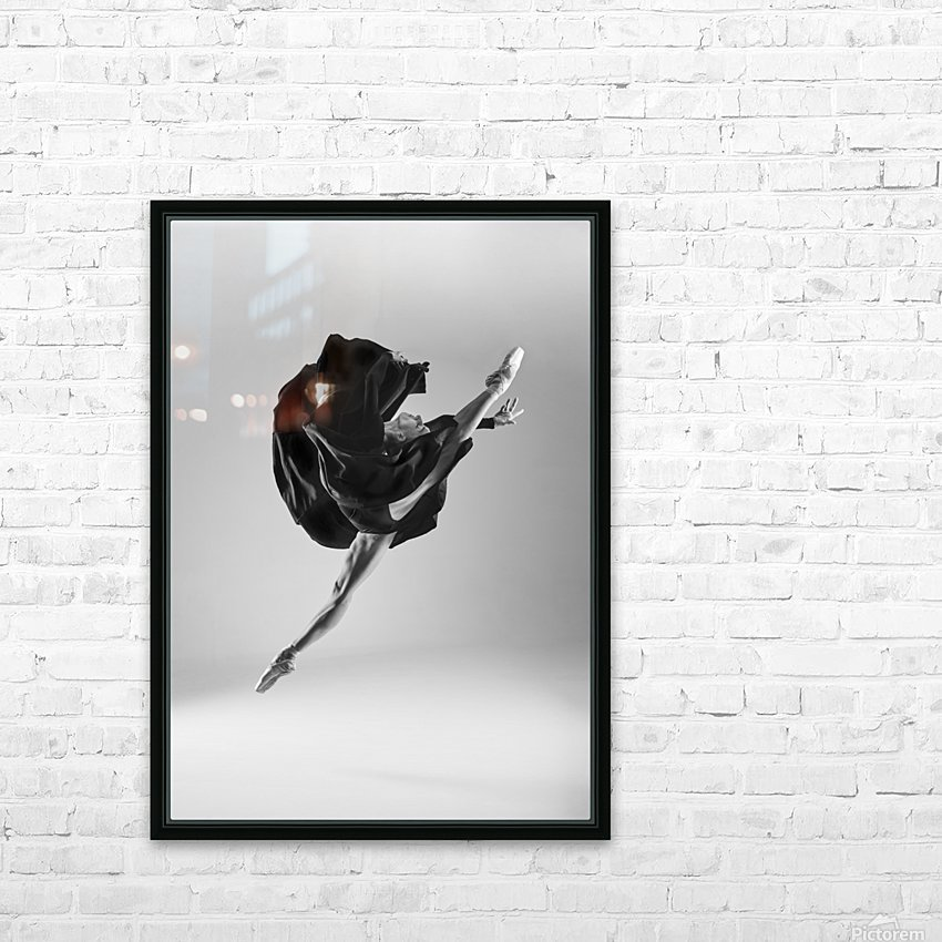 Ballerina HD Sublimation Metal print with Decorating Float Frame (BOX)