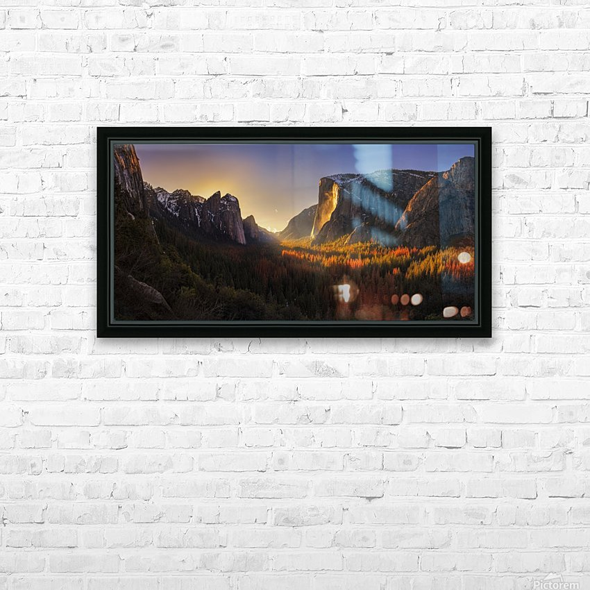 Yosemite Firefall HD Sublimation Metal print with Decorating Float Frame (BOX)