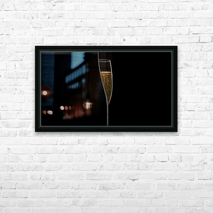Lines of Light HD Sublimation Metal print with Decorating Float Frame (BOX)