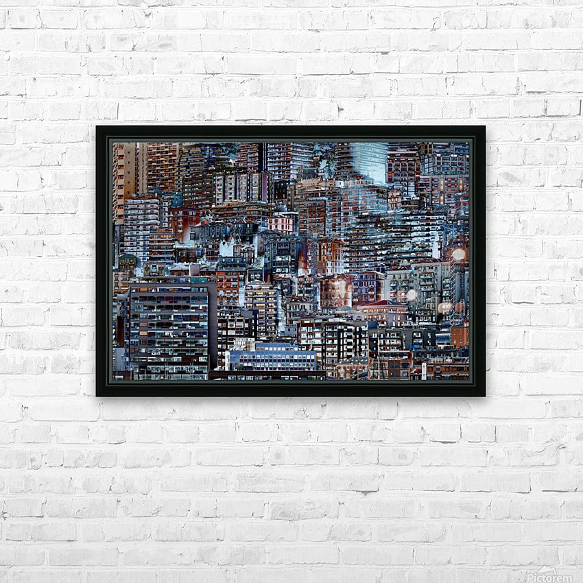 Metropolis HD Sublimation Metal print with Decorating Float Frame (BOX)