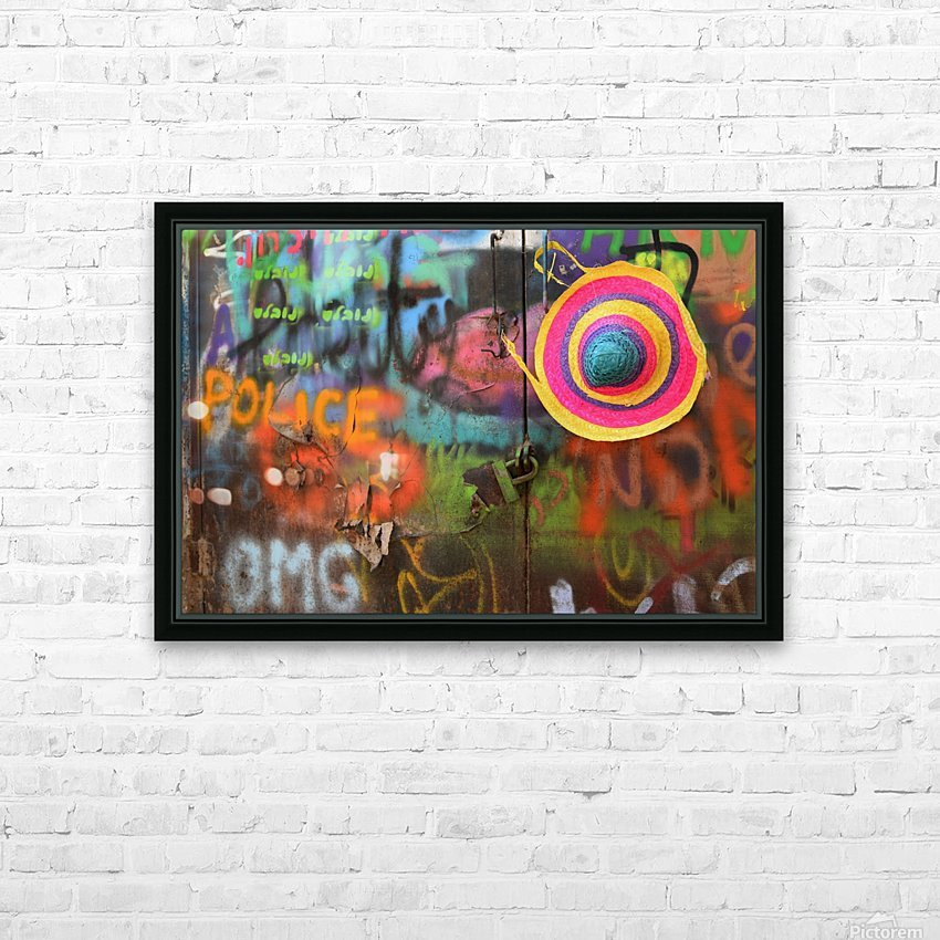 Street colors HD Sublimation Metal print with Decorating Float Frame (BOX)