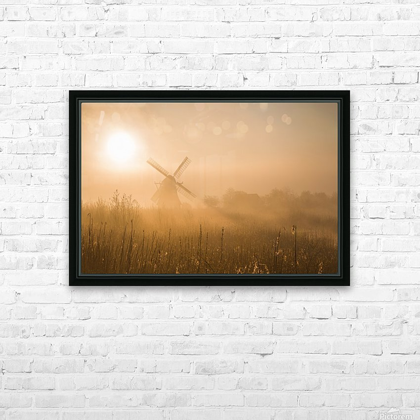 Golden Dawn. HD Sublimation Metal print with Decorating Float Frame (BOX)