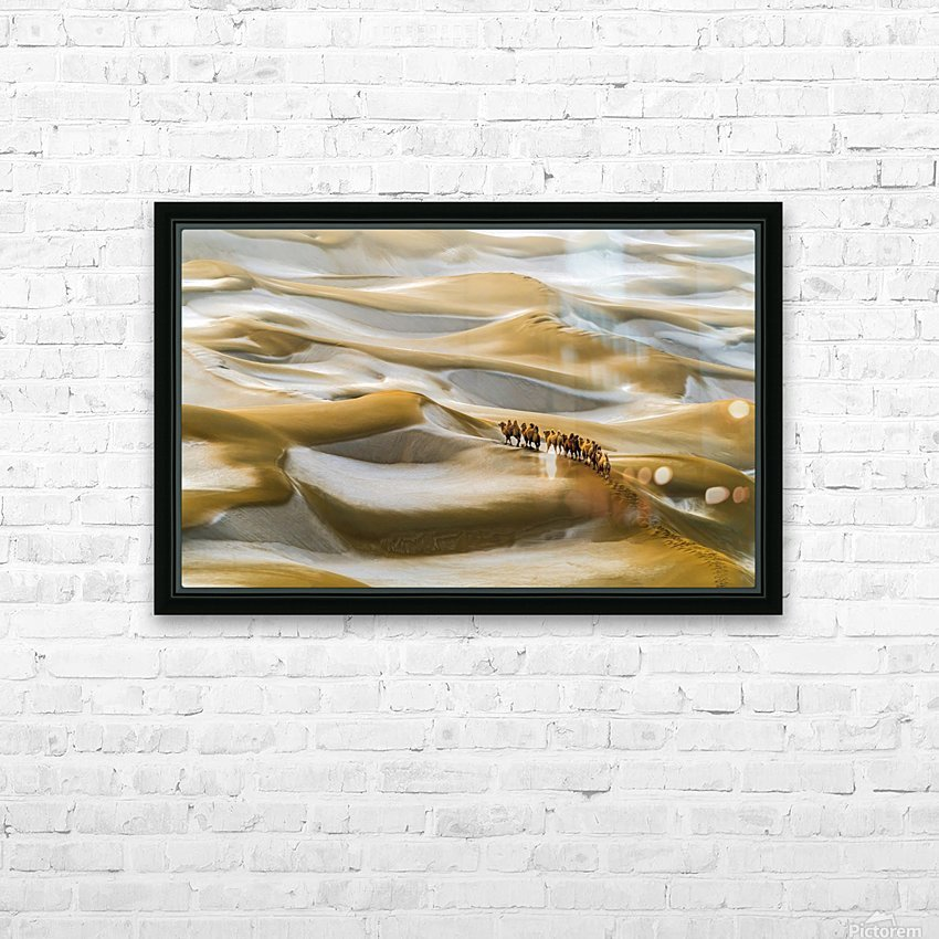 Desert Winter HD Sublimation Metal print with Decorating Float Frame (BOX)