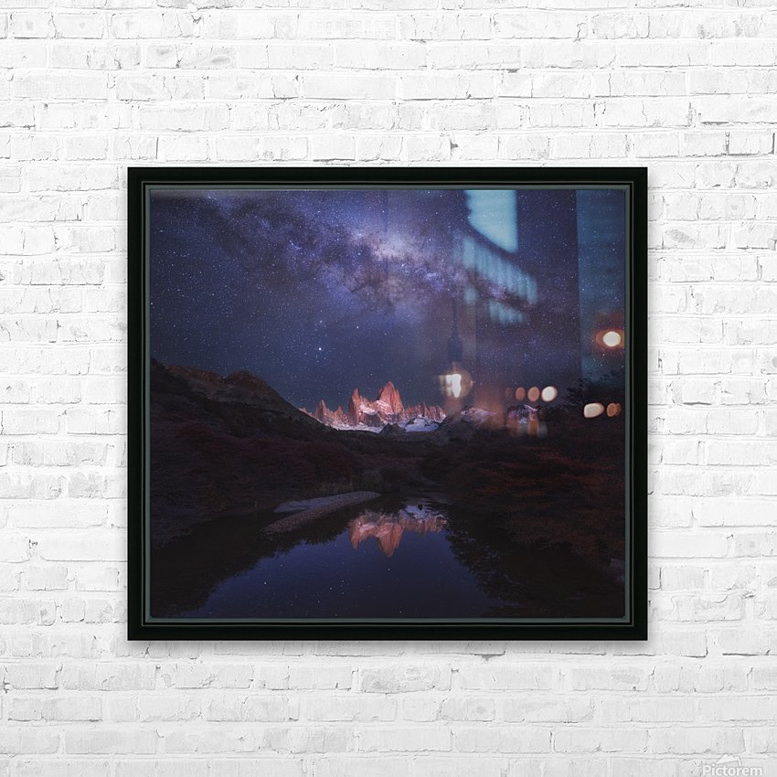 Patagonia Autumn Night HD Sublimation Metal print with Decorating Float Frame (BOX)