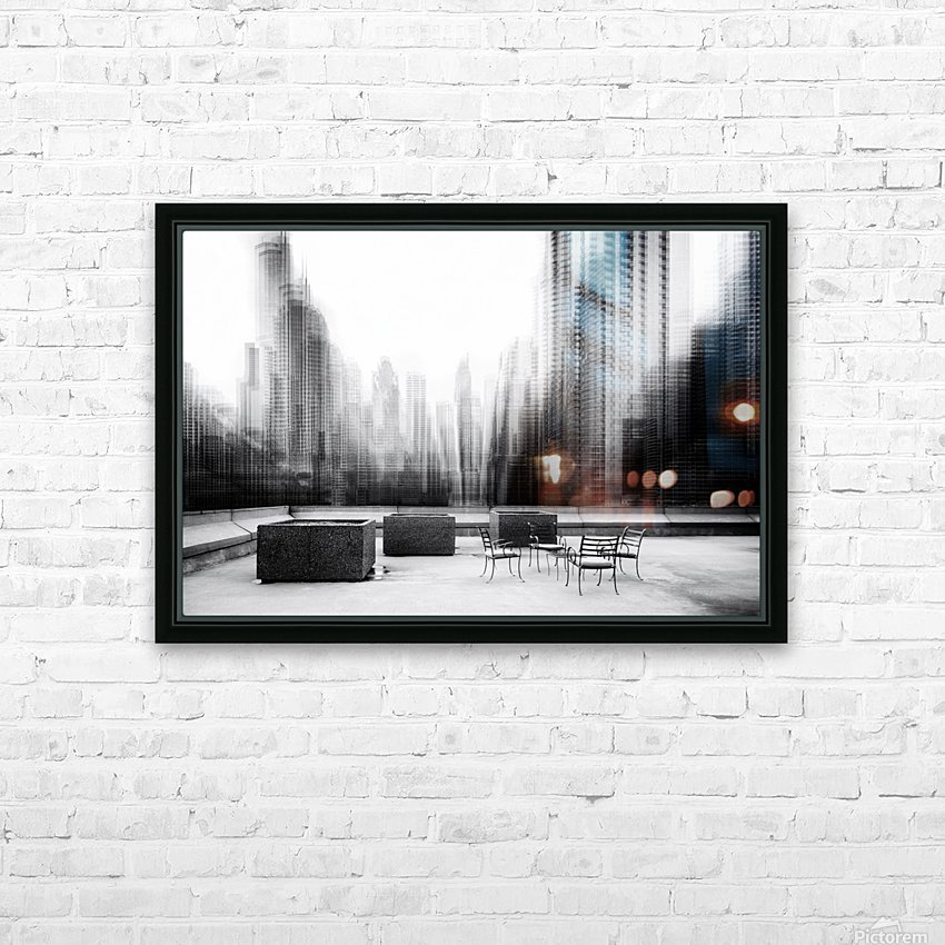 the terrace HD Sublimation Metal print with Decorating Float Frame (BOX)