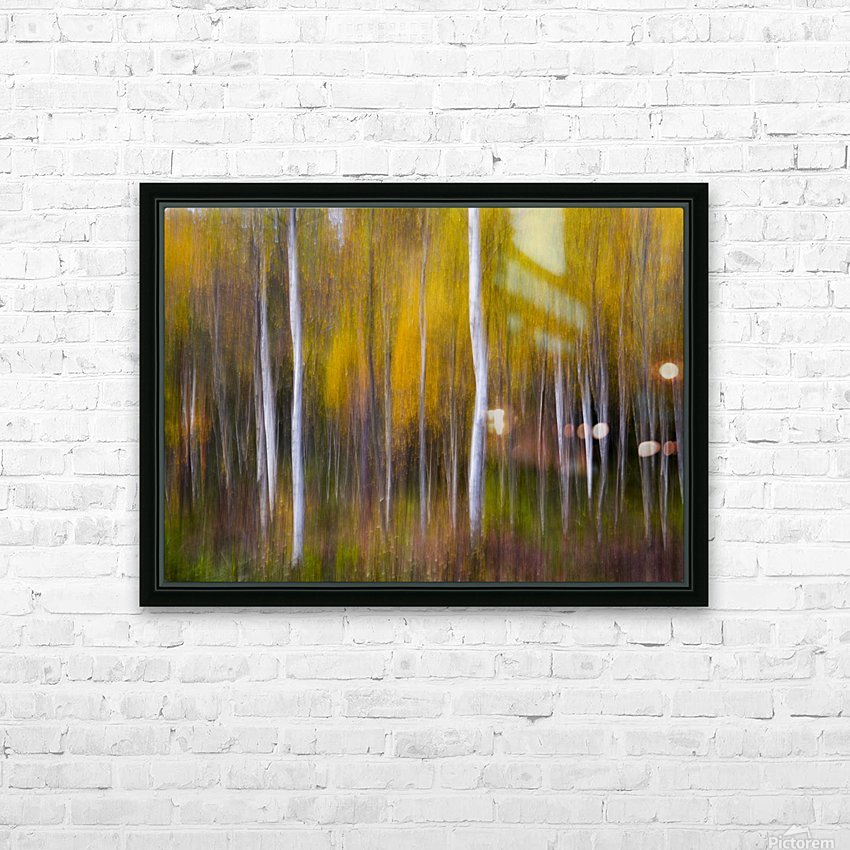 Abstract Fall HD Sublimation Metal print with Decorating Float Frame (BOX)