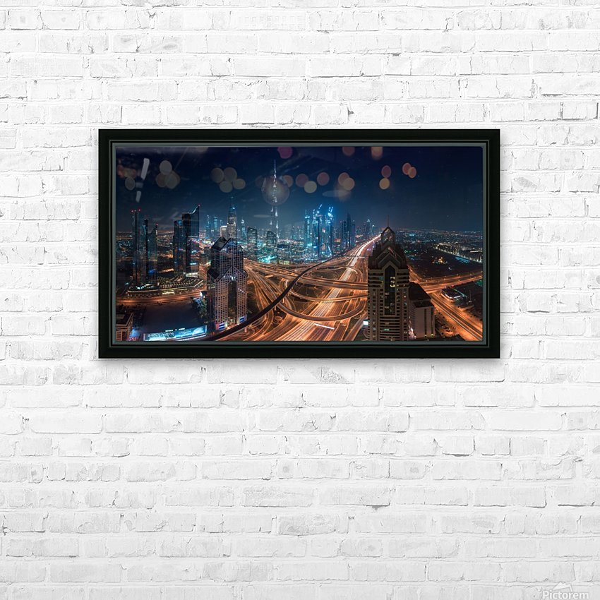 Downtown HD Sublimation Metal print with Decorating Float Frame (BOX)