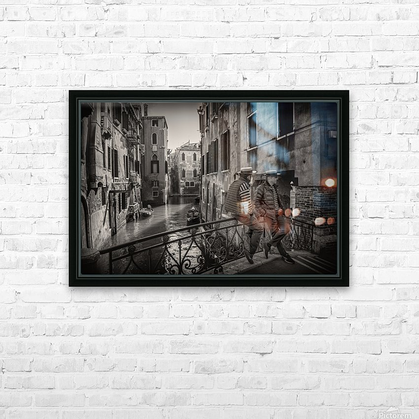 Gondolieri HD Sublimation Metal print with Decorating Float Frame (BOX)