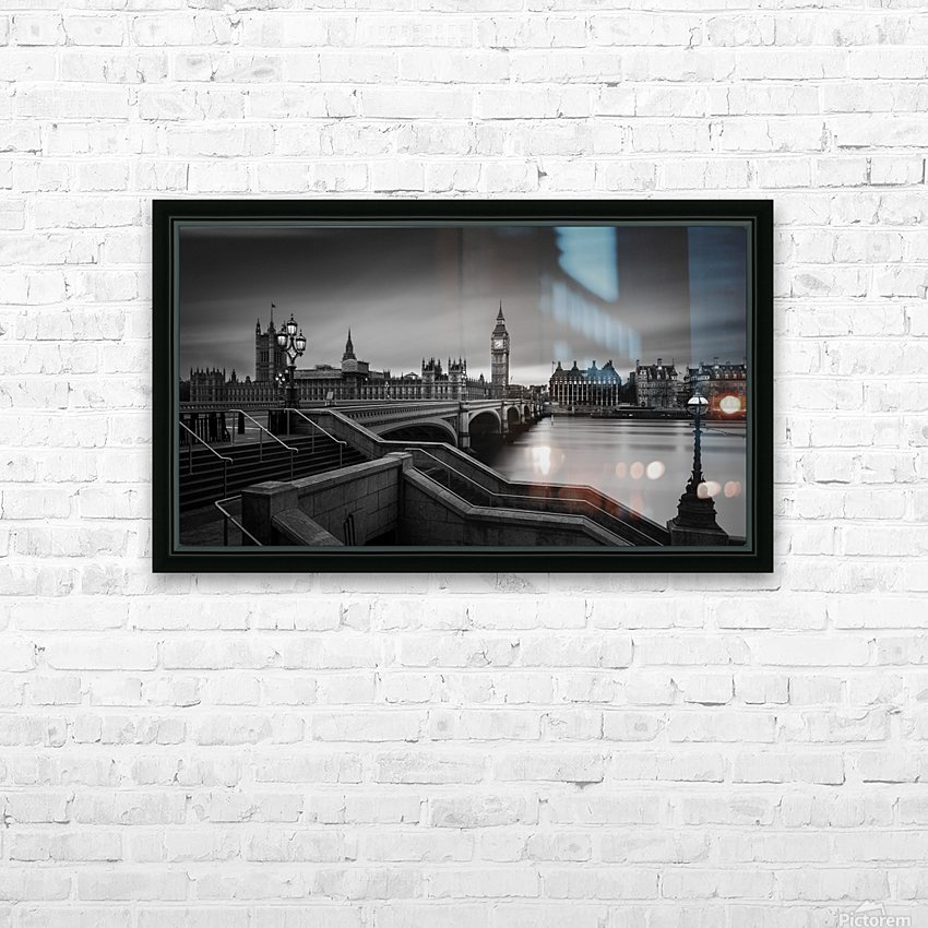 Westminster Bridge HD Sublimation Metal print with Decorating Float Frame (BOX)