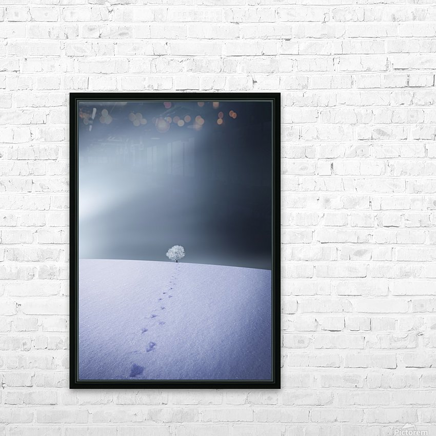 Winter HD Sublimation Metal print with Decorating Float Frame (BOX)