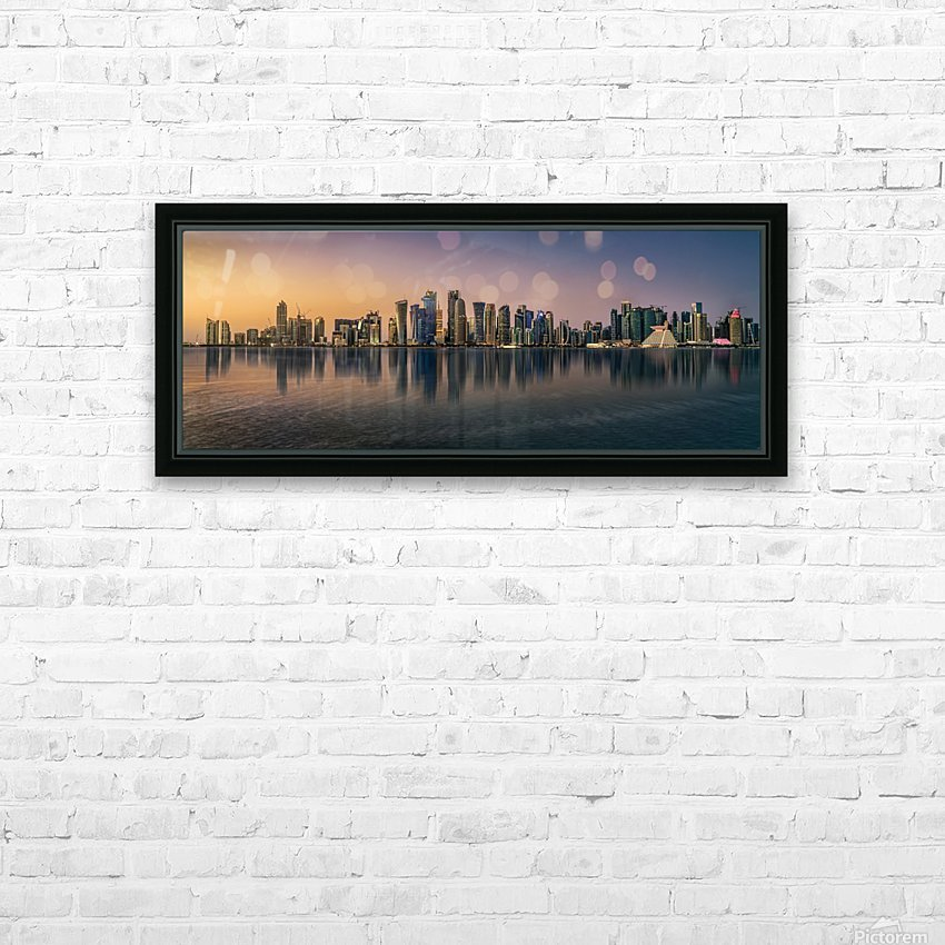 Doha reflections HD Sublimation Metal print with Decorating Float Frame (BOX)