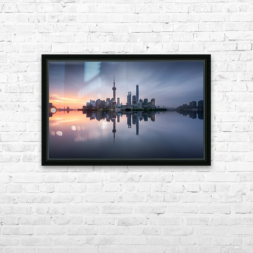 Good Morning Shanghai HD Sublimation Metal print with Decorating Float Frame (BOX)
