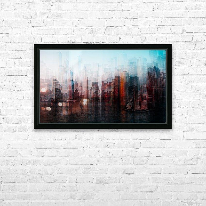 Manhattan HD sublimation métal imprimé avec décoration flotteur cadre (boîte)
