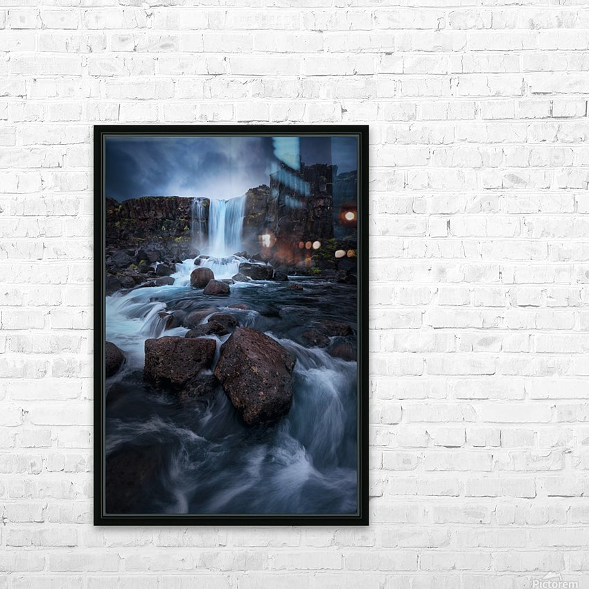 Una cascada. HD Sublimation Metal print with Decorating Float Frame (BOX)