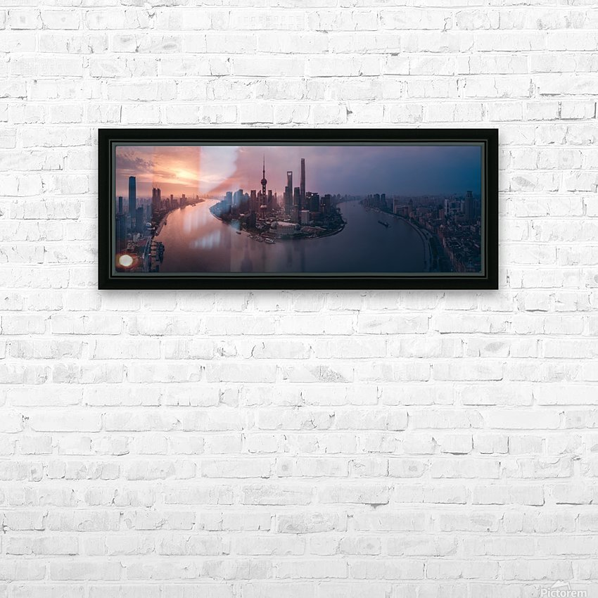 Flying Shanghai HD Sublimation Metal print with Decorating Float Frame (BOX)