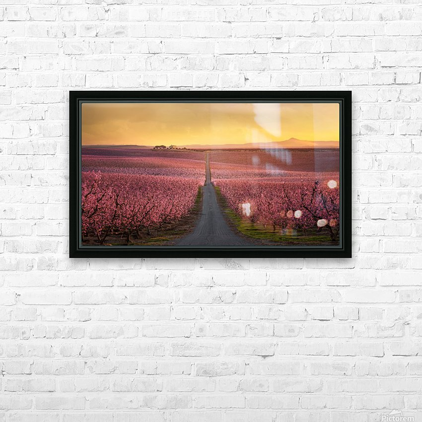 Flowering HD Sublimation Metal print with Decorating Float Frame (BOX)