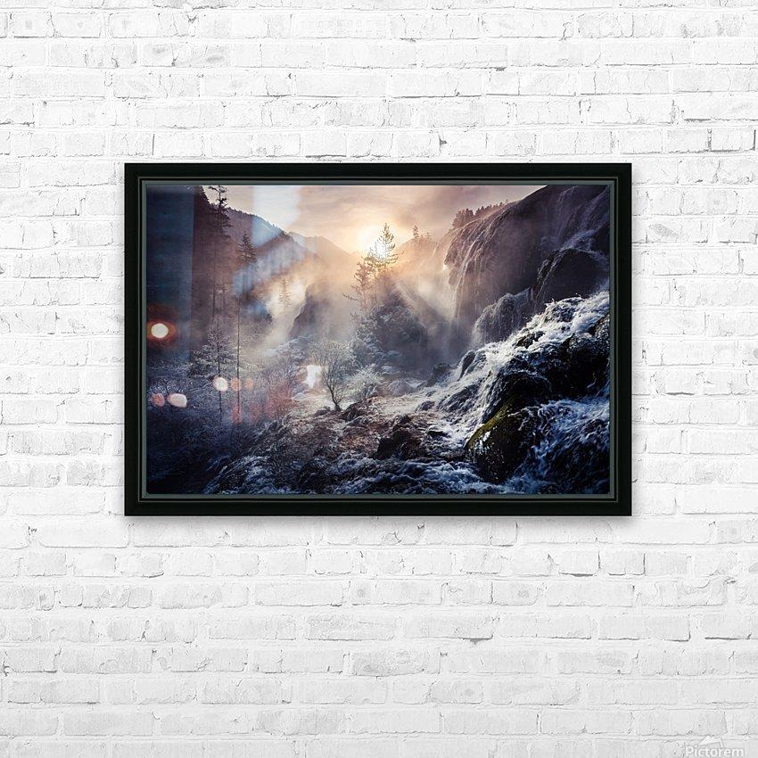 "Jiuzhaigou China a€Še""a¹»aœa¢ƒa€‹ HD Sublimation Metal print with Decorating Float Frame (BOX)"