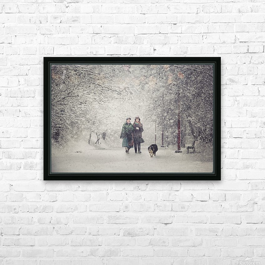 Snow storm charm HD Sublimation Metal print with Decorating Float Frame (BOX)