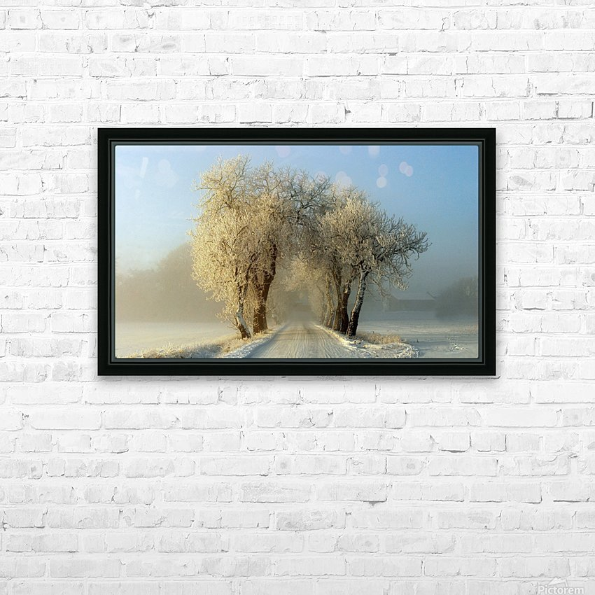 Winter  gateway HD Sublimation Metal print with Decorating Float Frame (BOX)