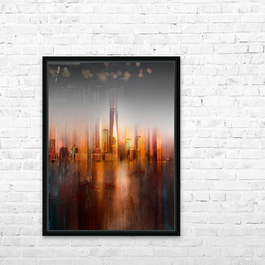 behind the window HD Sublimation Metal print with Decorating Float Frame (BOX)