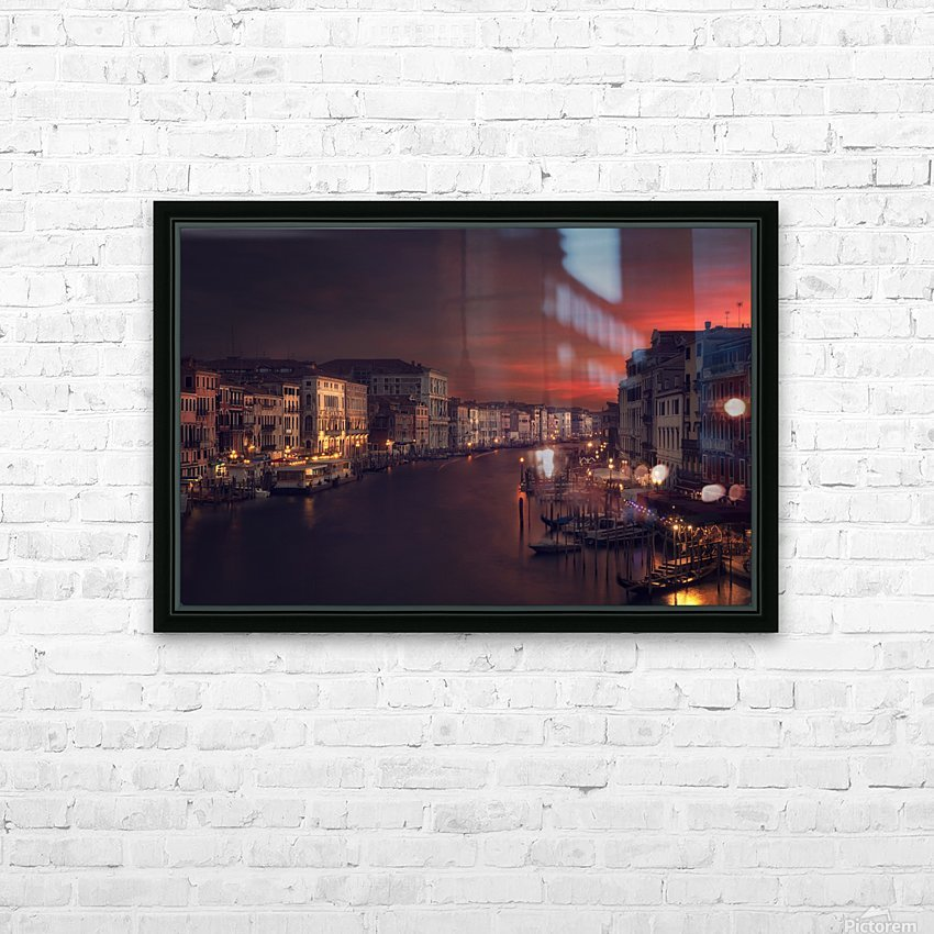 Gran canal HD Sublimation Metal print with Decorating Float Frame (BOX)