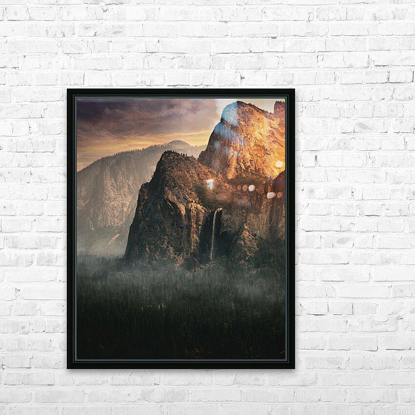 Bridalveil fall, Yosemite HD Sublimation Metal print with Decorating Float Frame (BOX)