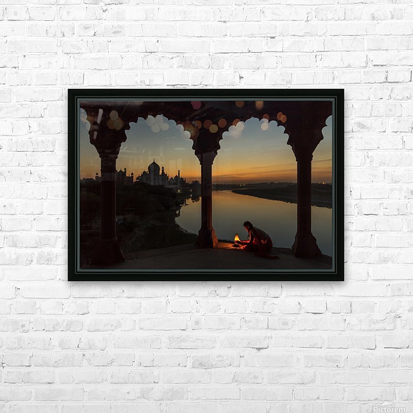 Illuminating the Taj HD Sublimation Metal print with Decorating Float Frame (BOX)