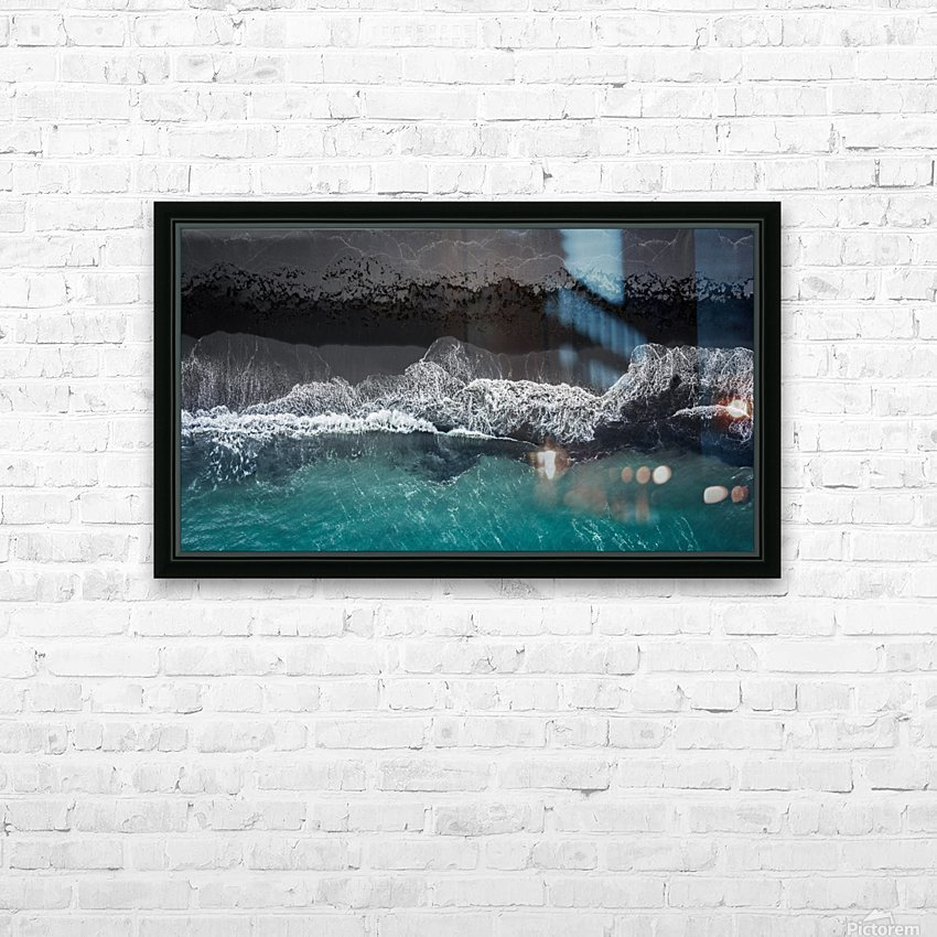 black beach HD Sublimation Metal print with Decorating Float Frame (BOX)