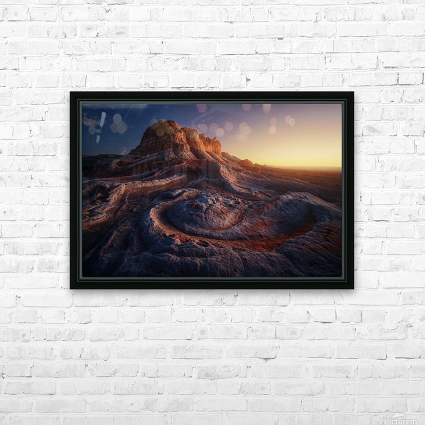 Gold Pocket. HD Sublimation Metal print with Decorating Float Frame (BOX)