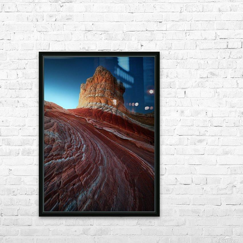 Lollipop rock HD Sublimation Metal print with Decorating Float Frame (BOX)