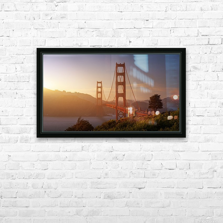 South Golden Gate. HD Sublimation Metal print with Decorating Float Frame (BOX)