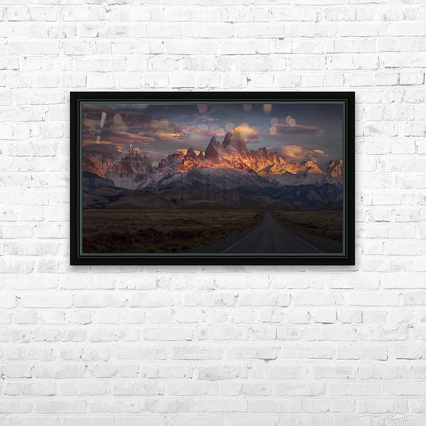 Burning peak HD Sublimation Metal print with Decorating Float Frame (BOX)